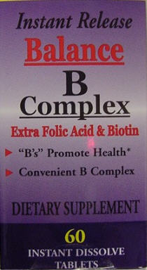 Balance B Complex (60 instant dissolving micro tabs)