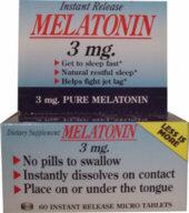 Melatonin (60 instant dissolving micro tabs, 3 mg each)